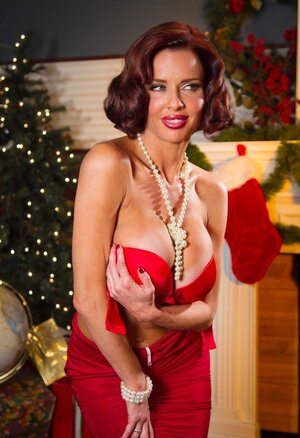 Staggering Mom i`d like to fuck with red hair and moreover tan lines waits for good cock for Christmas