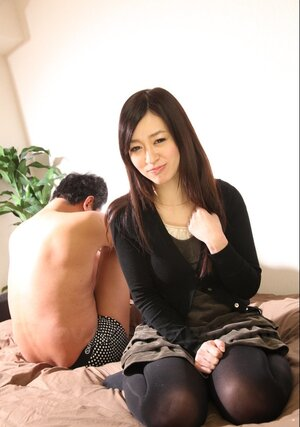 Married kitten from Japan demonstrates private components next to ashamed husband